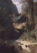 Carl Blechen Gorge near Amalfi oil